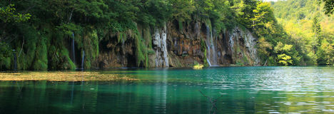 Waterfalls. Plitvice National Park and its waterfalls and lakes Stock Image