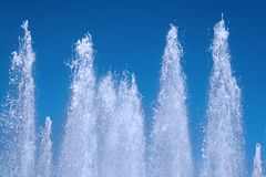 Waterfalls. Some big waterfalls in the sky Royalty Free Stock Images