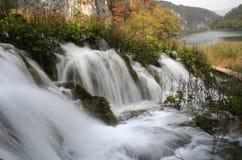 Waterfalls. Waterfall and lake Royalty Free Stock Photos