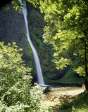 Waterfalls. Latourell Falls in Oregon with  tourist Royalty Free Stock Image