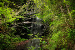 Waterfalls 4. Fresh water spring in the mountains Royalty Free Stock Images