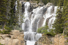 Waterfalls. Tangle Creek waterfalls in Jasper National Park, Alberta, Canada Royalty Free Stock Photography