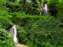 Waterfalls. Springstime landscape plenty of copy space Royalty Free Stock Images