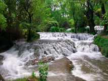 Waterfalls. Nice waterfalls at Monasterio de Piedra, Spain Royalty Free Stock Photo
