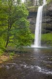Waterfalls. 177 ft South waterfalls in Silver Falls State Park near Salem, Oregon stock photo
