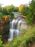 Waterfalls. Aerial view of waterfalls in the fall season royalty free stock image
