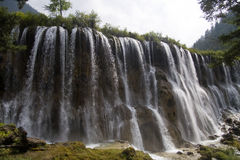 Waterfalls. China Jiuzhaigou nuorilang falls,Falls on Long 20 meters, 300 meters wide, is a large waterfall in Jiuzhaigou Stock Images