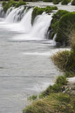 Waterfalls. Water falling into a river.  Mreznica river, Croatia Royalty Free Stock Photography