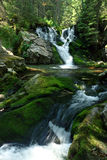 Waterfalls. Two small waterfalls from Pietrele Valley, Retezat National Park royalty free stock photo