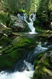 Waterfalls. Two small waterfalls from Pietrele Valley, Retezat National Park Royalty Free Stock Photo