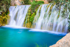 Waterfalls of algar (Fuente de Algar) Royalty Free Stock Images