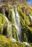 Waterfalls At Monasterio De Piedra, Zaragoza, Aragon, Spain Stock Photos