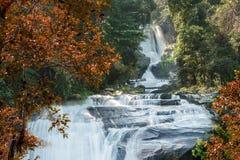 Waterfalls during Autumn Royalty Free Stock Photos