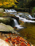 Waterfalls in autumn Royalty Free Stock Image