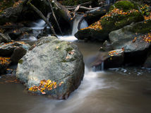 Waterfalls at Autumn. Royalty Free Stock Images