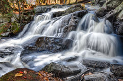 Waterfalls on an Autumn Morning Stock Photography