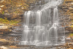 Waterfalls In Autumn Royalty Free Stock Photos