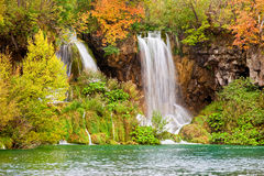 Waterfalls in Autumn Scenery Royalty Free Stock Photo