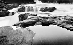 Waterfalls in B & W Stock Images