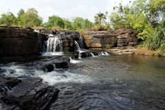 Waterfalls of banfora, burkina faso. The basin of a waterfall of banfora in burkina faso royalty free stock photography