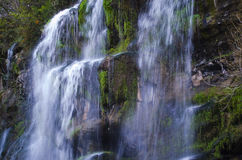 Waterfalls. Beautiful waterfalls in the mountain royalty free stock photography