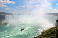 Waterfalls and boat Royalty Free Stock Photo