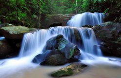 Waterfalls in Borneo. Cascade waterfall in the rainforest of Borneo, Sabah Malaysia Stock Photo