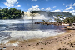 Waterfalls of Canaima. In Venezuela Royalty Free Stock Photography