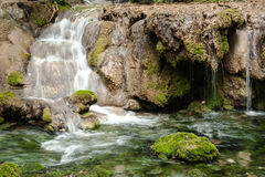 Waterfalls and cascades in forest Stock Images