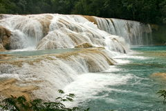 Waterfalls Cataratas DE Agua Azul Mexico stock afbeelding