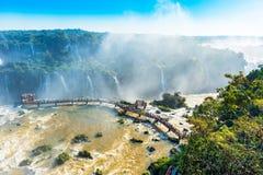 Free Waterfalls Cataratas Foz De Iguazu, Brazil. Top View Royalty Free Stock Image - 167430086