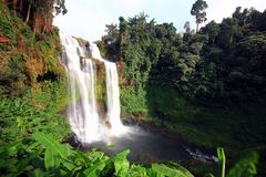 Waterfalls in Champasak, Laos Stock Photos