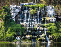 Waterfalls in Chiang Mai Zoo - Frontal View Stock Photography