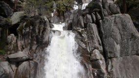 Waterfalls Chilnualna Trail Yosemite National Park California. Granite Rock Green Trees Chilnualna Trail Waterfalls Yosemite stock video