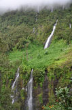 Waterfalls in Cirque de Salazie, Reunion island Stock Photo