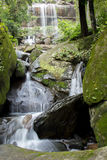 Waterfalls, clear, beautiful, green, plants, moss, rocks. The big Waterfalls, clear, beautiful, green, plants, moss, rocks Stock Photo