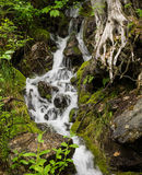 Waterfalls on clear river Stock Images