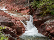 Waterfalls on clear river Stock Photos