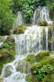 Waterfalls. The close-up of multi-level waterfalls royalty free stock photos