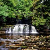 Waterfalls. Cotter Force Waterfalls - Hawes, Yorkshire Royalty Free Stock Image