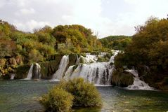 Waterfalls, Croatia Royalty Free Stock Images