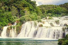 Waterfalls in Croatia Royalty Free Stock Photography