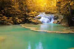 Waterfalls In Deep Forest stock photography