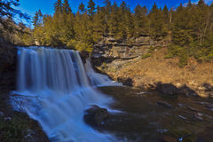 Waterfalls in early spring Royalty Free Stock Photo