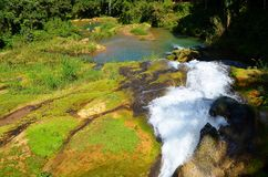 Waterfalls El Niche, Cienfuegos, Cuba Royalty Free Stock Images