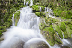 Waterfalls at Entzia mountain range (Spain) Royalty Free Stock Photography