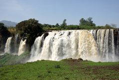 Waterfalls in Ethiopia. The Blue Nile waterfalls in Ethiopia, in Africa Stock Photography