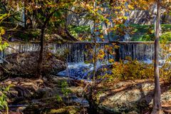 Waterfalls and Fall Foliage Surrounding the Guadalupe River Stock Photography