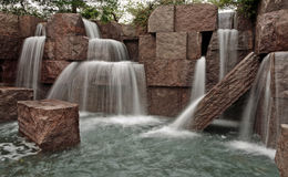 Waterfalls at FDR Memorial. Waterfalls at the Franklin Delano Roosevelt Memorial in Washington, D.C Royalty Free Stock Photography