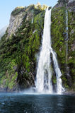 Waterfalls in Fiordland, New Zealand Royalty Free Stock Photo